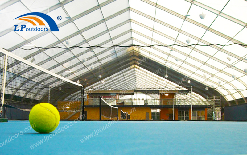 Windproof Aluminum Structure Curve Sport Tent as Outdoor Tennis Court