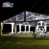 Outdoors clear party marquee tent with 1200gsqm clear PVC roof top for restaurant