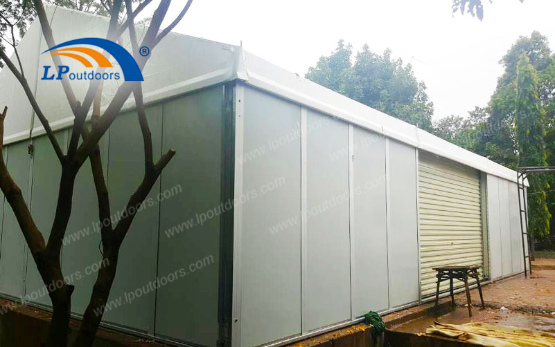 Advantages of the 10-meter Customized Storage Tent with Sandwich Wall Made by LP Outdoors over its Peers