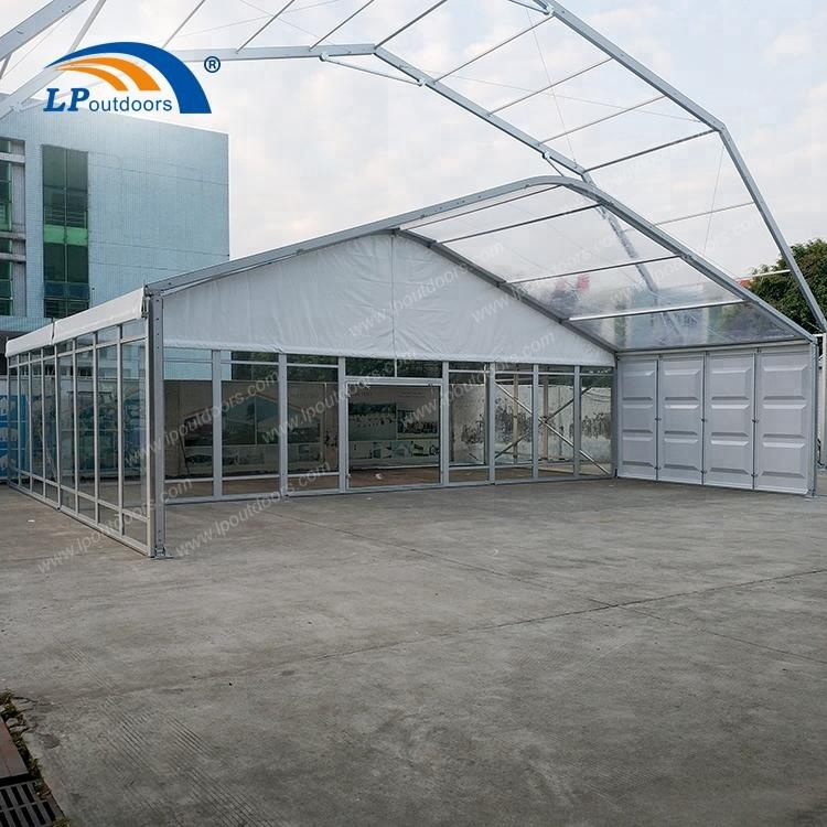 250 people Outdoor aluminum transparent roof marquee event tent for wedding or festival