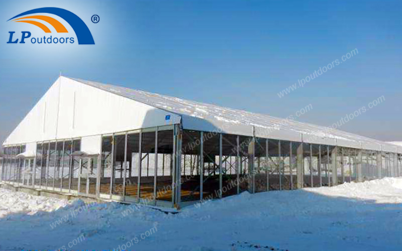 Two Cold Area Problems Can be Solved by LPoutdoors Snow and Wind-resistance Aluminum Construction Tents